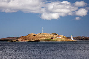 Georges Island (Nova Scotia) - Georges Island viewed from Halifax, with McNabs Island in the background