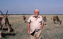 Gerald Durrell in Askania Nova, 1985