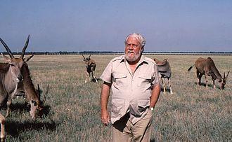 Gerald Durrell - Gerald Durrell in Askania Nova, 1985