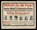 German advert for the treatment of hair loss Wellcome L0040431.jpg