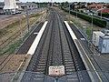 Gerzat - Ligne ferroviaire depuis passerelle (vers Riom) 2016-09-09.JPG