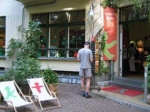 Karl Peglau - Ampelmännchen shop in Berlin, with products based on Peglau's original designs