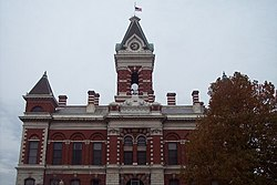 East Face of Princeton's best-known landmark, the 1884 Gibson County Courthouse