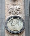 Giovanni antonio amadeo, facciata della cappella colleoni, 1472-75, pilastri con medaglioni, dx 09.JPG