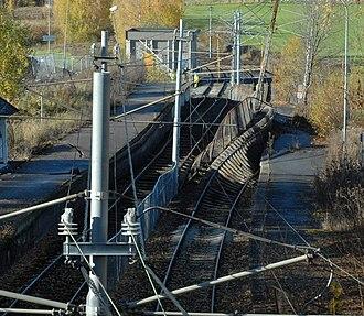 Gjønnes - A ground accident at Gjønnes Station in October 2008.
