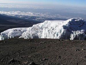 Rebmann Glacier on the Summit of Mount Kilimanjaro