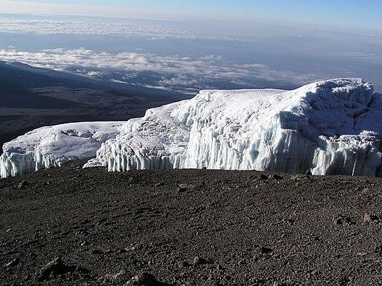 Kilimanjaronyň buzluklary, awgust 2003