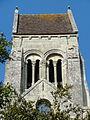 Glaignes (60), église Sainte-Marguerite, clocher, vue depuis le sud 2.JPG