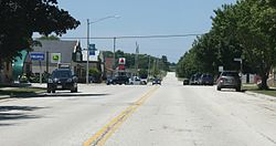 Glenbeulah Wisconsin Downtown Looking West.jpg