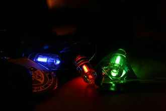 Tritium radioluminescence - Radioluminescent keychains