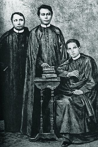 Gomburza - Engraving featuring the three priests