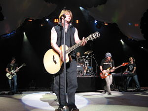English: The Goo Goo Dolls perform their song ...