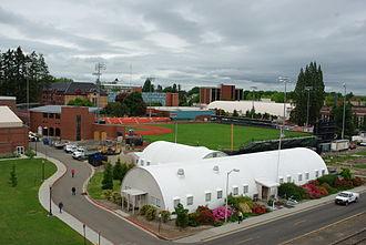 Goss Stadium at Coleman Field - View of the stadium (still under construction)
