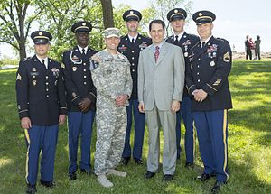 Scott Walker (politician) - Governor Walker at the Milwaukee Veterans Affairs Medical Center