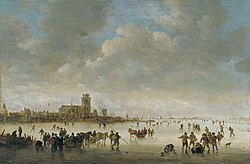 Jan van Goyen : Winter Landscape with Figures on the Ice