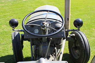 Steering wheel - Steering wheel and front wheels of a farm tractor
