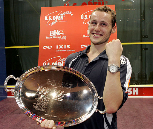 Grégory Gaultier with US Open Trophy