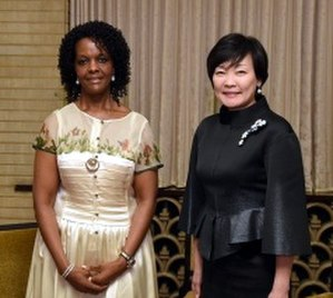 Akie Abe - with Grace Mugabe (on March 28, 2016)