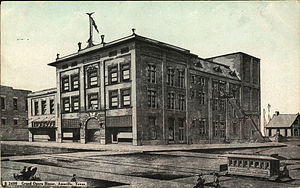 Amarillo, Texas - Grand Opera House, Amarillo, Texas (postcard, circa 1909–1924)