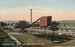 Millinocket, Maine - Great Northern Paper Company Mill in Millinocket (1907).