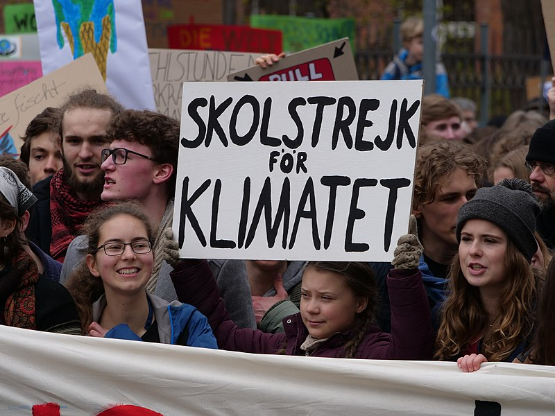 File:Greta Thunberg at the front banner of the FridaysForFuture demonstration Berlin 29-03-2019 10.jpg