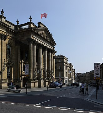 Grainger Town - Looking south on Grey Street, with the Theatre Royal on the left.