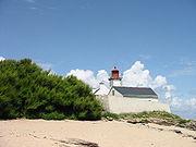 Le phare de la pointe des chats, sur l'île de Groix (Morbihan)