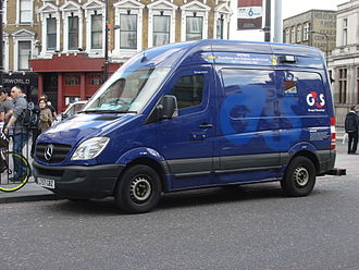 Armored car (valuables) - G4S security van in the UK