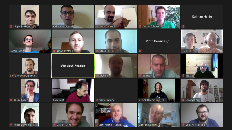 Group photo from the intermediate break of Day 2 at Wikimedia CEE Online Meeting 2020