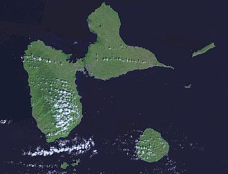 Guadeloupe - A satellite photo of Guadeloupe.