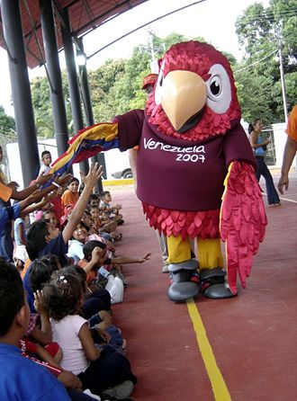 2007 Copa América - Guaky suit manufactured by Fractal Studio, through the main cities of Venezuela.