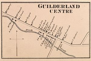 Guilderland Center, New York - 1866 map of Guilderland Center