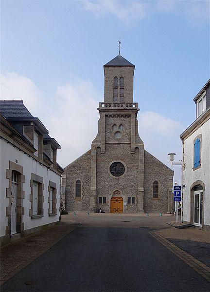 St. Anne's Church, Guilvinec, Finistère, France.