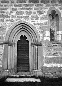 Guldrupe Church chancel doorway (Einar Erici 1915, RAÄ).jpg