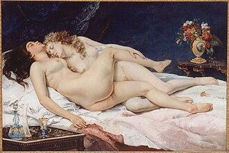 Le Sommeil - Image: Gustave Courbet Le Sommeil (1866), Paris, Petit Palais