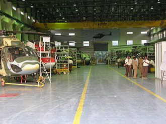Hindustan Aeronautics Limited - Production line of the HAL Dhruv at Bangalore