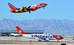 HB-IQI Edelweiss Air 1999 Airbus A330-223 - cn 291 -- N214WN Southwest Airlines 2005 Boeing 737-7H4 (cn 32486-1721) (15227891280).jpg