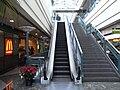 HK Peak Galleria 山頂廣場 L2 McDonalds escalator 2 roof.JPG