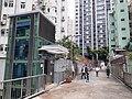 HK SW 上環 Sheung Wan 皇后大道中 Queen's Road Central 水坑口街 Possession Street footbridge lift Sunday morning October 2019 SS2 10.jpg