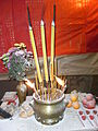 HK Sheung Wan U Lan Ghost Festival night Incense burner Aug-2012.JPG