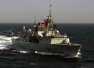 HMCS Toronto (FFH 333) - Image: HMCS Toronto (inset)