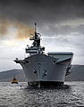 HMS Illustrious on Loch Long, Scotland MOD 45153593.jpg