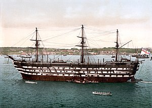 Commander-in-Chief, Plymouth - HMS ''Impregnable'', flagship of the Commander-in-Chief, Plymouth, circa 1900