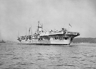 HMS Victorious (R38) - HMS Victorious and other ships of the British Pacific Fleet arriving at Sydney in February 1945