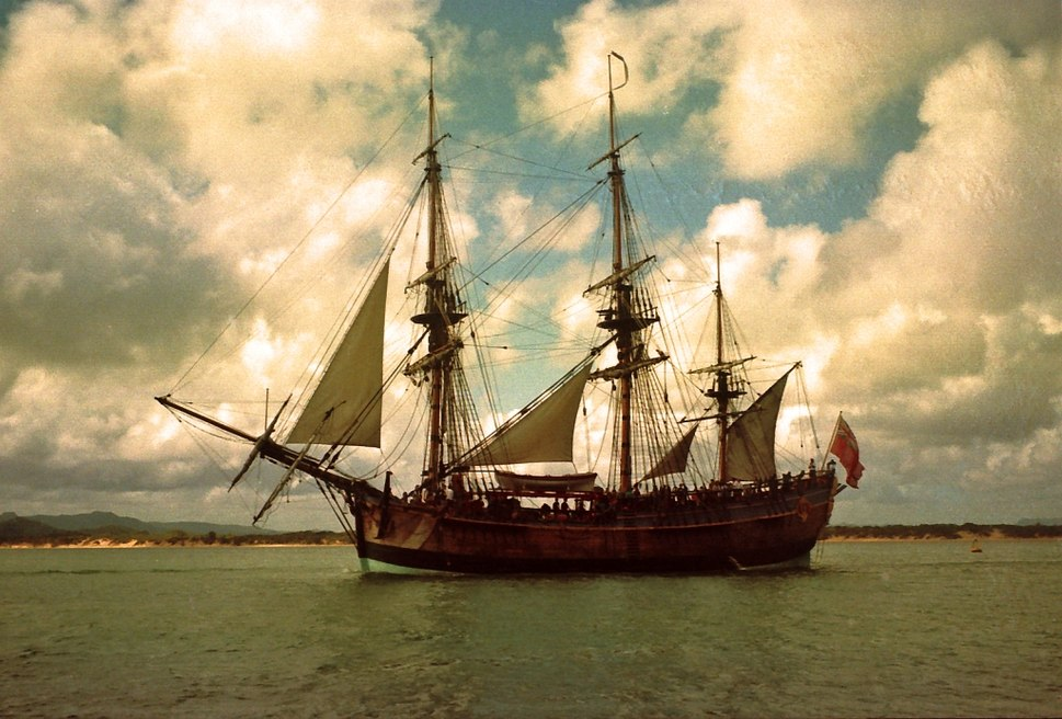 HM Bark Endeavour replica in Cooktown