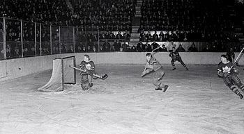 Ice hockey game between the Montreal Canadiens...