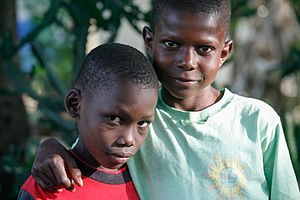Sibling - Two brothers from Haiti.