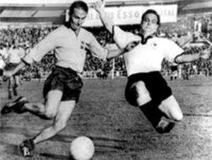 Erich Juskowiak - Kurt Hamrin and Erich Juskowiak (r) in 1958