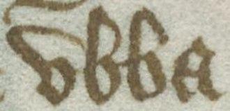 Ubba - Image: Harley MS 2278, folio 48v excerpt