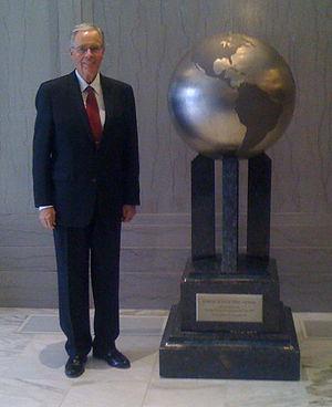 Harold G. Hillam - Harold Hillam with Sunday School Time Capsule